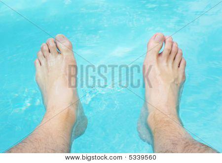 Relaxing Feet In Water