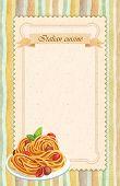 Italian cuisine restaurant menu card design in vintage style - Poster format poster