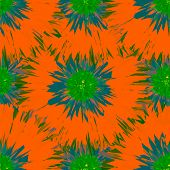 Seamless bright colors tropical floral pattern