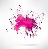 Abstract background notes and splatter. This is file of EPS10 format. poster