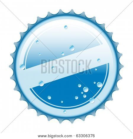 Vector Illustration of bottle cap from water, on a white background.