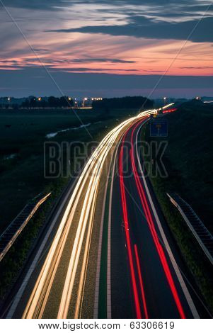 Long Exposure Photo Of Traffic