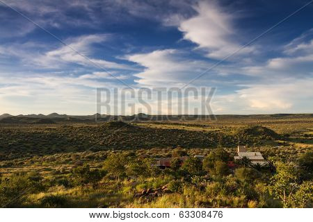 Grassland Of Namibia In The Rain Season