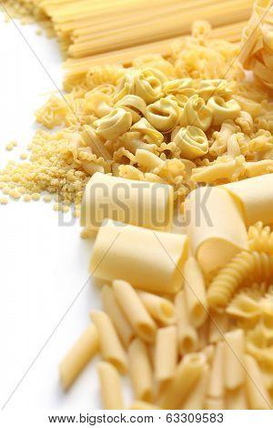 pasta assortment, italian food image