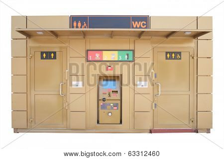 public lavatory under the white background