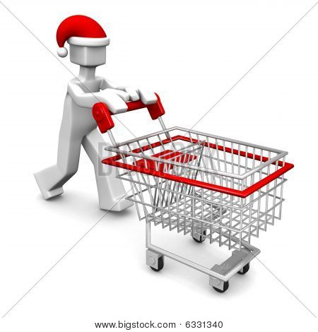 Celebration Christmas Or Christmas Sales Shopping Concept
