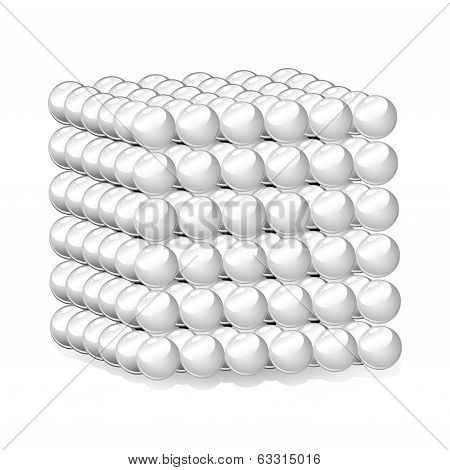 Cube of Spheres vector