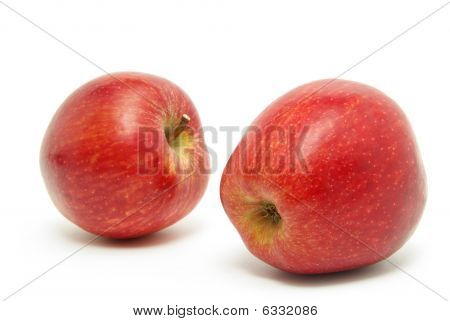 poster of fresh apples isolated on the white background
