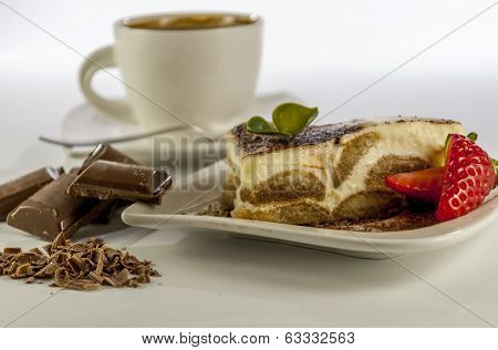 Tiramisu On White Background