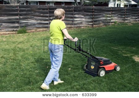 Mowing On Electric Power