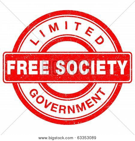 Grunge stamp of Liberty