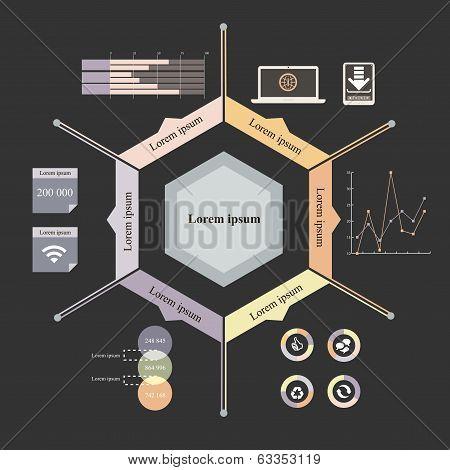 hexagon infographics