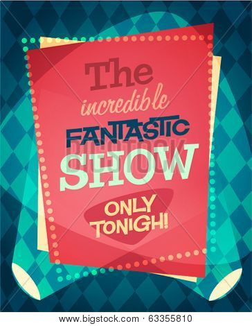 Circus show poster. Vector illustration.