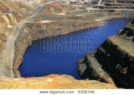 Excavation metal outdoor mine Riotinto in Spain poster