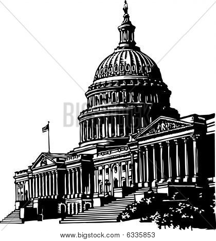 Capitol building illustration