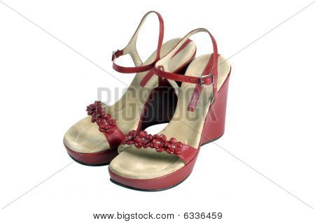 Red Vintage Shoes