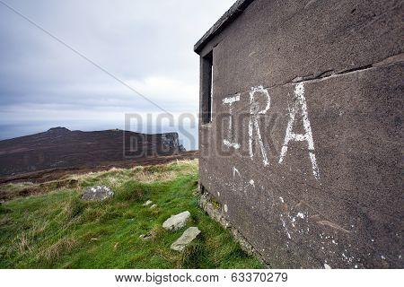 Ira Graffiti On Horn Head, Ireland