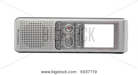 Digital Voice Recorder. Screen - White Background.