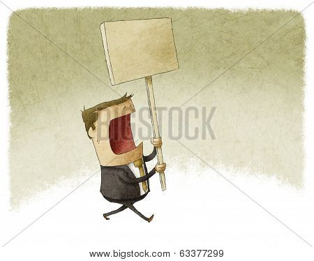 Businessman demonstration