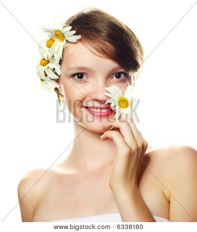 Girl With Camomiles