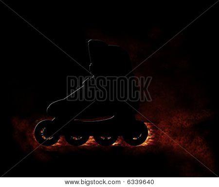 Burning Roller-skate Shoe