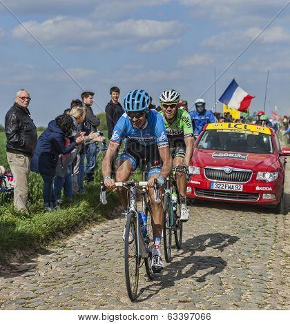 Two Cyclists- Paris Roubaix 2014
