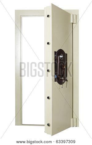 Locked Closed Grey Safe