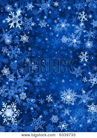 Blauwe sneeuw achtergrond