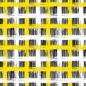 Vector seamless plaid pattern with bold brushstrokes and stripes in bright multiple colors can be used for web, print, wallpaper, fall winter fashion, fabric, textile, gift wrapping paper poster