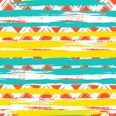 Vector seamless ethnic pattern with bold zigzag brushstrokes and stripes in bright colors can be used for print, wallpaper, spring summer fashion, fabric, textile, gift wrapping paper, home decor poster
