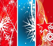 three different -2 type vector christmas banner , vector illustration for xmas poster