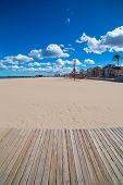 Gandia Beach sand in Mediterranean Sea of Spain at Valencian Community poster