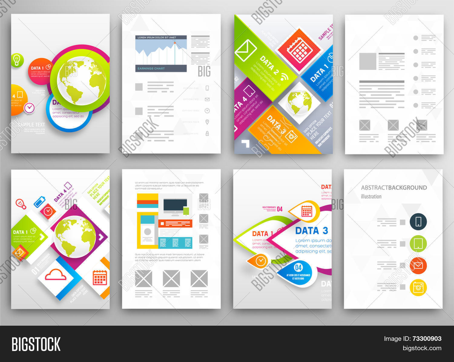 Set Flyer Brochure Design Vector Photo Bigstock - Brochure design templates