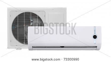 Air conditioner isolated on white