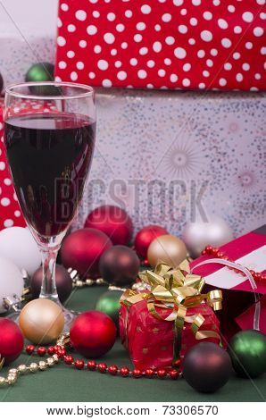 Christmas Parcels and Red Wine