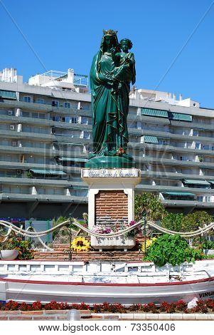 Hail Queen of the seas statue, Fuengirola.