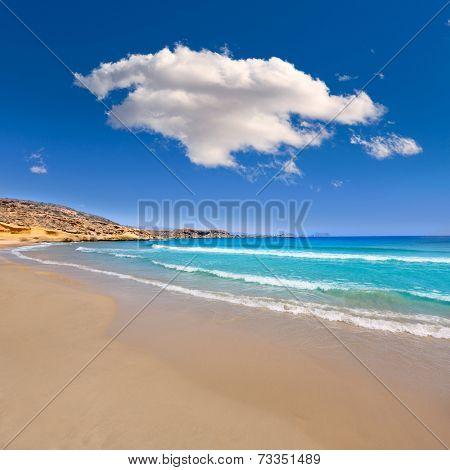 la carolina beach in Murcia  at Mediterranean sea of spain