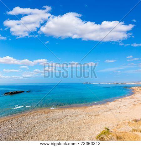 Mazarron beach in Murcia Spain at Mediterranean sea poster