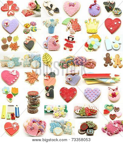 Collage Of Cookies Decorated