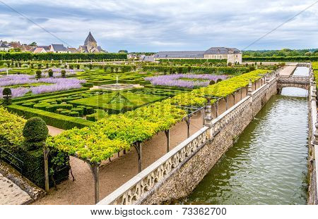 Chateau Villandry With Garden