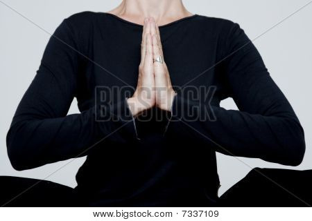 Woman Is Engaged In Yoga