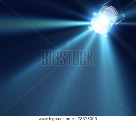 Dark background with spotlight