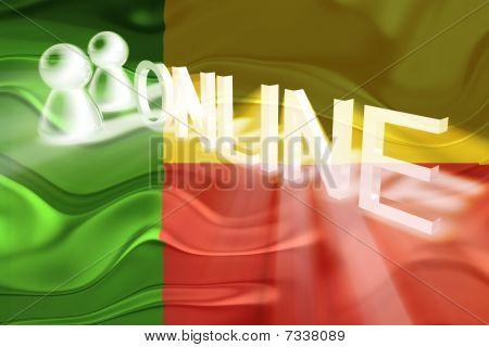 Flag Of Benin Wavy Online