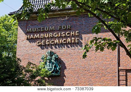 """The Hamburg Museum (also known as """"Museum for Hamburg History"""") a history museum located near the Planten un Blomen park in the center of Hamburg Germany poster"""