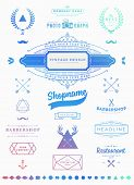 Set of Retro Vintage Insignias and Logotypes. Business Signs, Logos, Identity Elements, Labels, Badges, Frames, Borders and Other Design Elements. Instagram Color Style. Modern Colors Version. poster