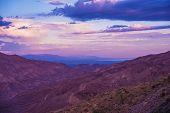 Coachella Valley and Salton Sea Sunset Scenery. California United States. poster