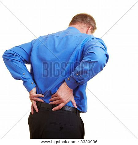 Businessman Having Problems With His Spine