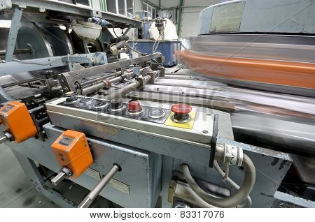 Magazine production line in print house