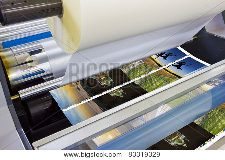 Printing machine detail of laminator