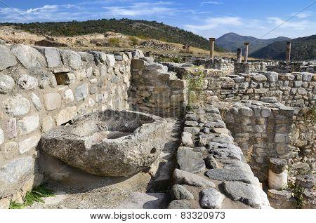 Ruins of the ancient city Bargala in Stip, Macedonia